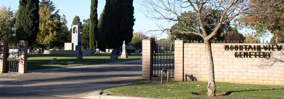 Picture of Front Gate at Mountain View Cemetery.